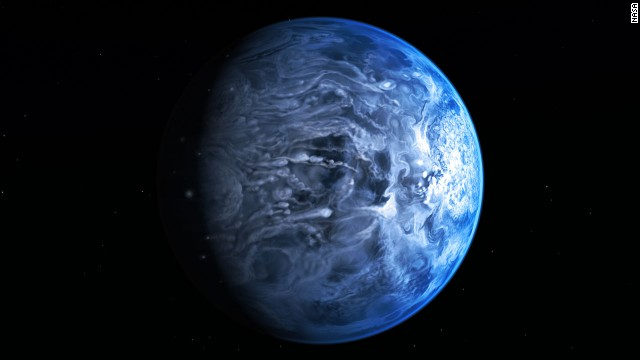 See blue planet that may rain glass