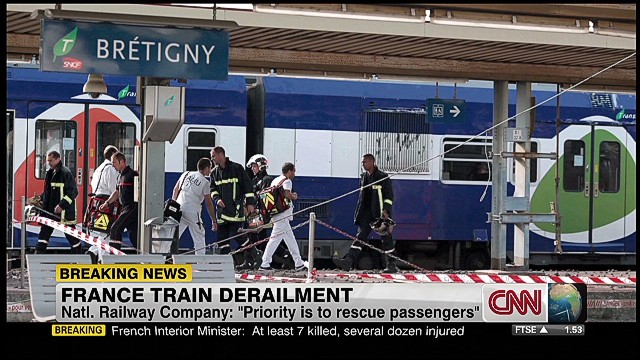 Many casualties in French train wreck