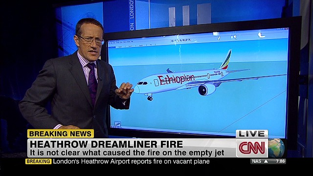 787 Dreamliner catches fire
