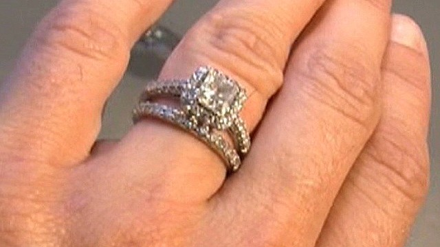 Diamond ring recovered in sewer