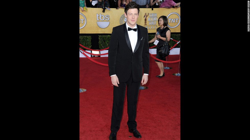 Monteith poses on the red carpet at the SAG Awards on January 29, 2012, in Los Angeles.