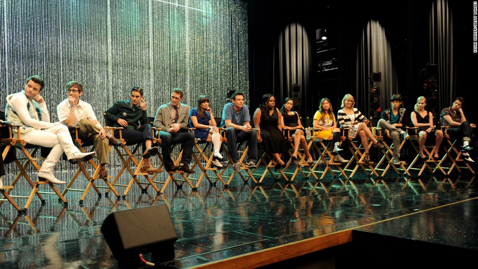 "The cast of ""Glee"" appears at the 300th musical performance special taping on October 26, 2011, at Paramount Studios in Los Angeles."
