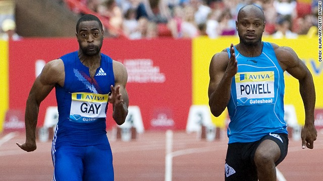 Former world champion Tyson Gay and former world-record holder Asafa Powell tested positive for banned substances.