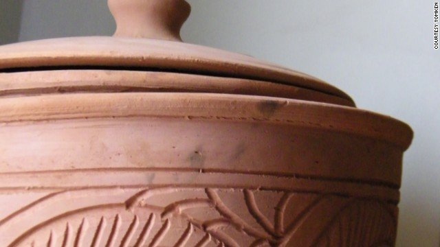 Egyptian potter Adel El-Dib's clay cooler.