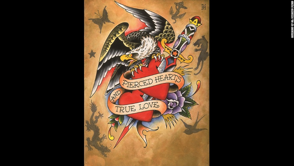 Tattoo artist Ed Hardy licensed his artwork to be sold in a clothing brand by French businessman Christian Audigier.