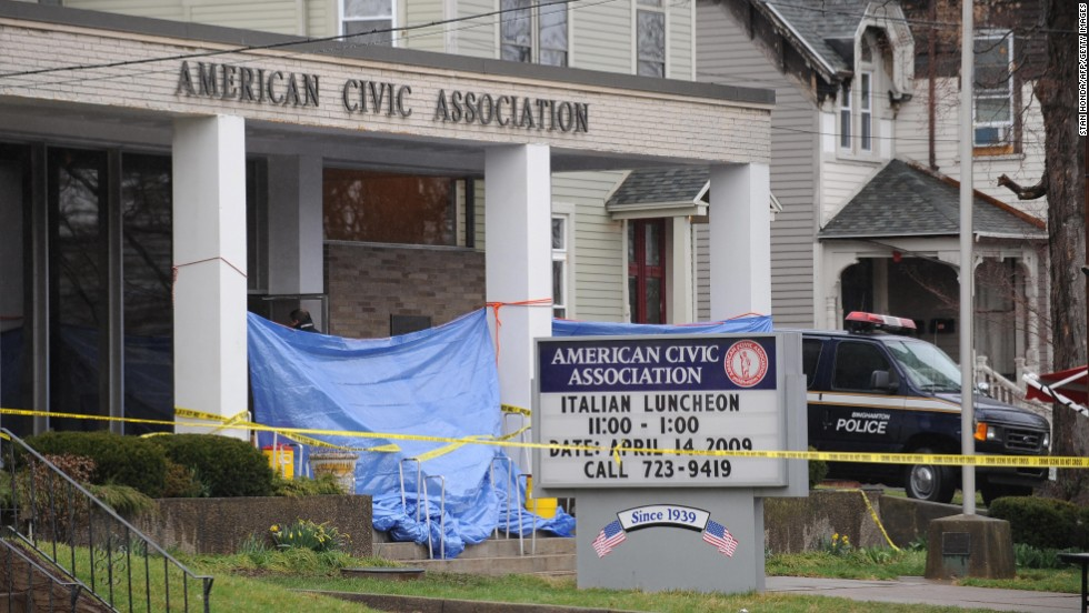 "Jiverly Wong shot and killed 13 people at the American Civic Association in Binghamton, New York, before turning the gun on himself on April 3, 2009, police say. Four other people were injured at the <a href=""http://www.cnn.com/2009/CRIME/04/08/ny.shooting/index.html?iref=allsearch"" target=""_blank"">immigration center shooting</a>. Wong had been taking English classes at the center."