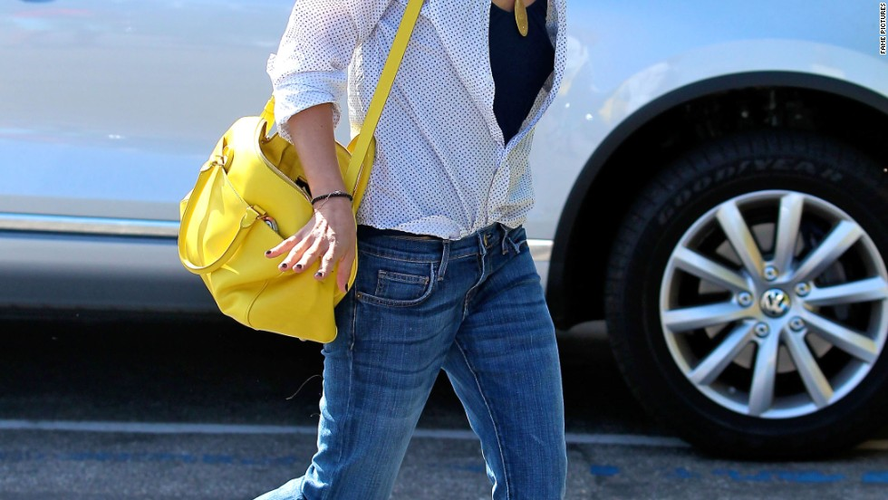 Selma Blair shows off her lighter locks as she steps out in Santa Monica, California on July 16.