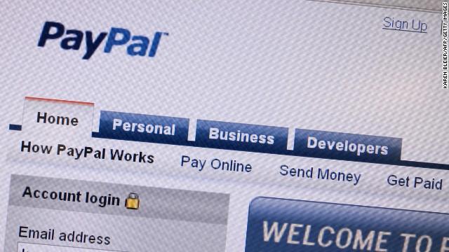 An illustration of online payment service PayPal at LeWeb Paris 2012 in Saint-Denis, near Paris on December 5, 2012.