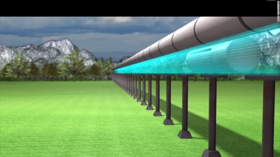 The airless tubes — mounted above ground or even under water — would be combined with a magnetic-levitation system used on conventional bullet trains. Linear electric motors accelerate the capsules, which then coast at insanely high speeds without friction or wind resistance.