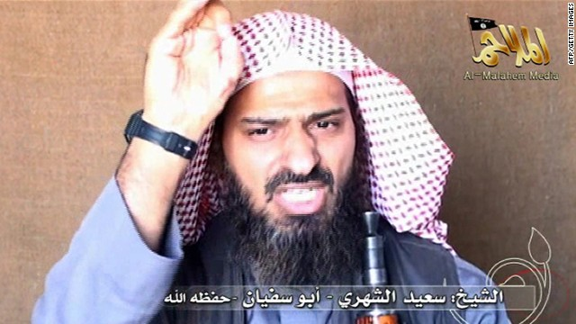A screen shot of a video shows al Qaeda's No. 2 man in Yemen Said al-Shihri on October 6, 2010.