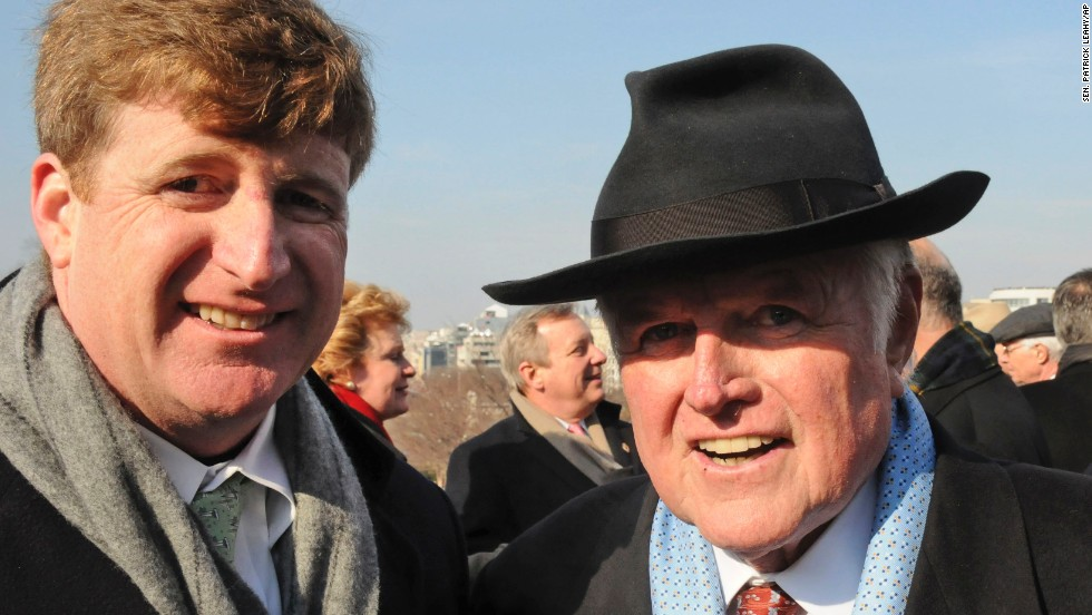 The Kennedy clan experienced a two-year absence on Capitol Hill beginning in 2011 with the departure of Rep. Patrick Kennedy, D-Rhode Island, shown here with his father, Sen. Edward Kennedy, at President Barack Obama's inauguration in 2009. The hiatus ended when Rep. Joseph P. Kennedy III, D-Massachusetts, was sworn in this year. He is the son of former Rep. Joe Kennedy and the grandson of the late Sen. Robert Kennedy.
