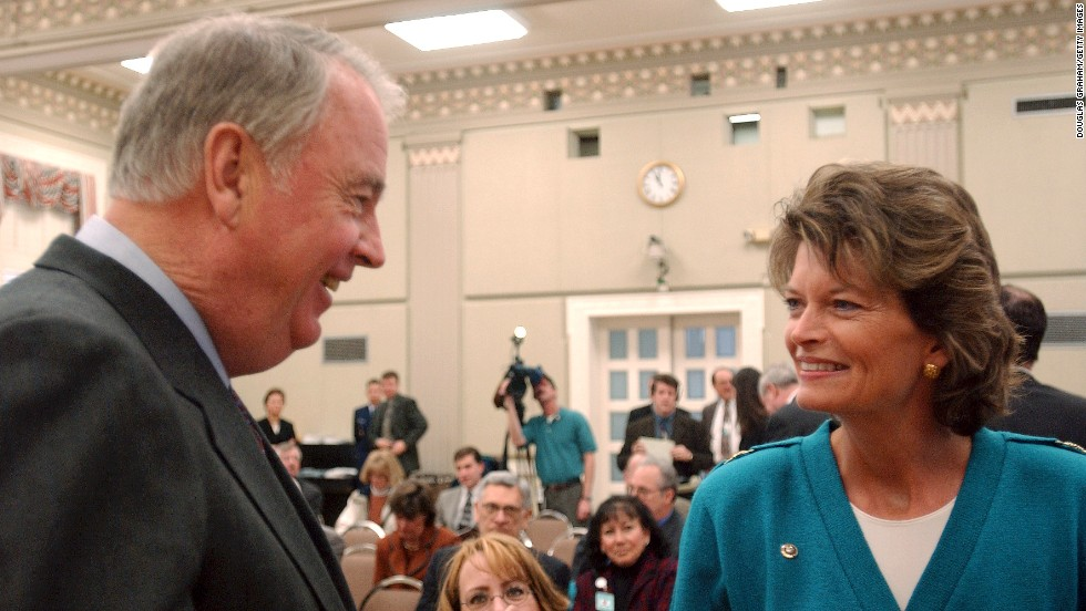 U.S. Sen. Lisa Murkowski, R-Alaska, is the daughter of Frank Murkowski, who also represented Alaska in the Senate and was later the state's governor.