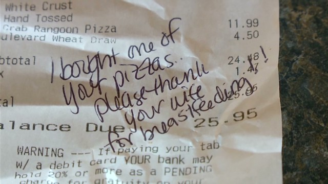Server responds to breast-feeding