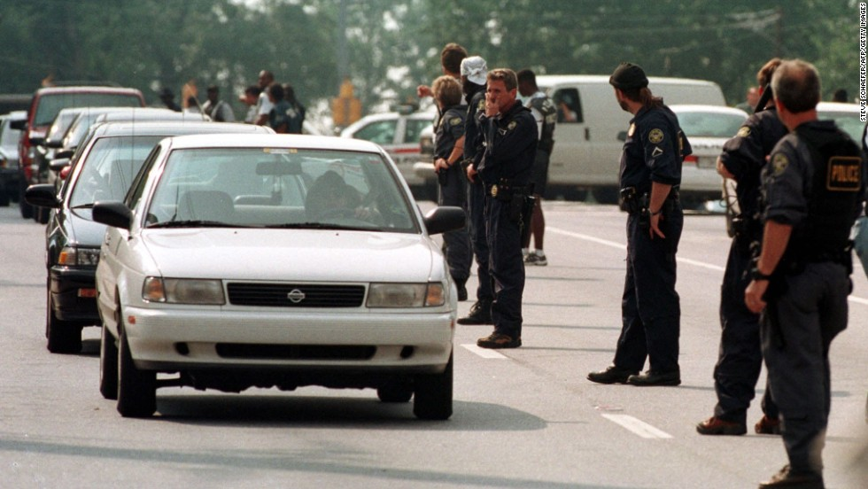 "<a href=""http://www.cnn.com/US/9907/29/atlanta.shooting.01/index.html?iref=allsearch"" target=""_blank"">Mark Barton</a> walked into two Atlanta trading firms and fired shots in July 1999, leaving nine dead and 13 wounded, police said. Hours later, police found Barton at a gas station in Acworth, Georgia, where he pulled a gun and killed himself. The day before, Barton had bludgeoned his wife and his two children in their Stockbridge, Georgia, apartment, police said."