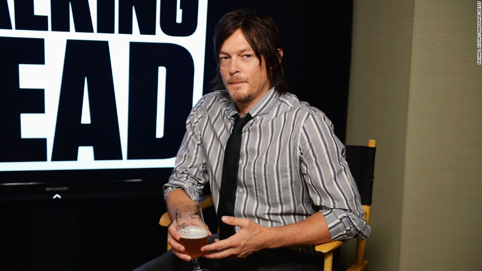 "Actor Norman Reedus spends his first day at the WIRED Cafe on July 18. Reedus plays fan favorite Daryl Dixon on the TV show ""The Walking Dead."""