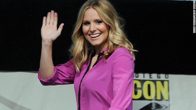 """Veronica Mars"" actress Kristen Bell attends the panel for the movie at Comic-Con in San Diego on July 19."