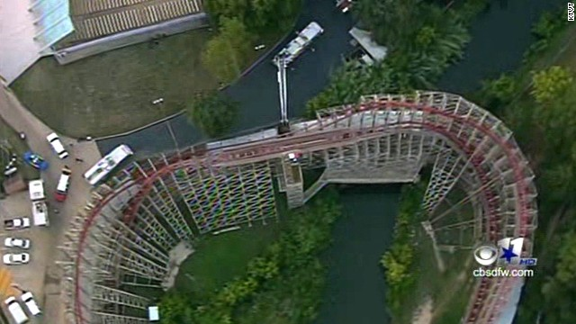 At its highest point, the roller coaster is 153 feet and has a drop of