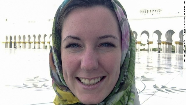 This family handout photo taken in Abu Dhabi in May 2013 shows Norwegian businesswoman Marte Deborah Dalelv, 24.