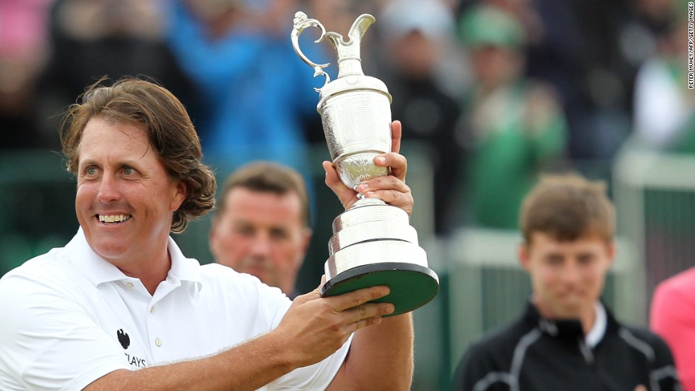 But the day belongs to Mickelson who says he played some of the best golf of his life to win an elusive British Open title at Muirfield