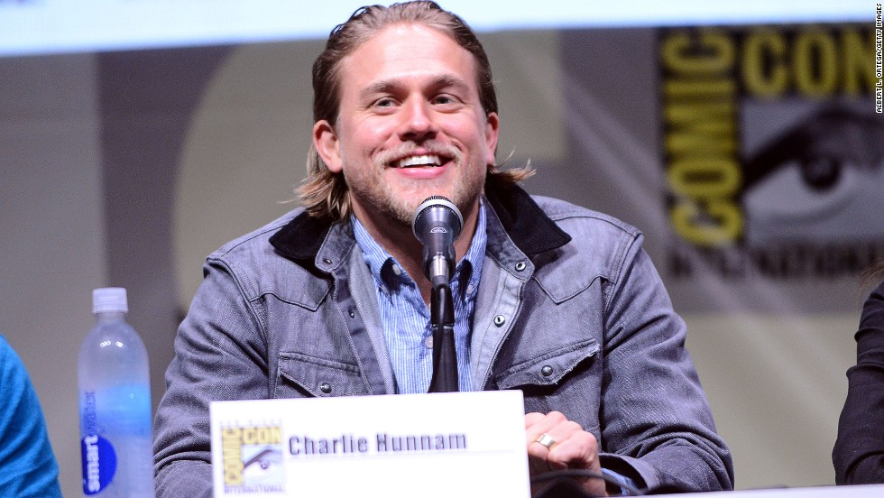 "Actor Charlie Hunnam speaks onstage at the ""Sons of Anarchy"" panel on July 21."