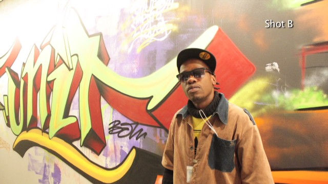 Rapper uses wall as 'graffiti sketchbook'