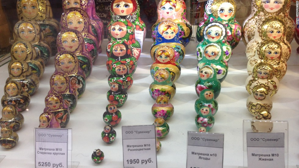 Fancy a souvenir from your time on Snowden watch? Traditional Matryoshka dolls are lined up for sale throughout the transit lounge.