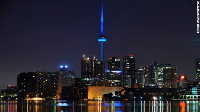 The CN Tower in Toronto, Canada.