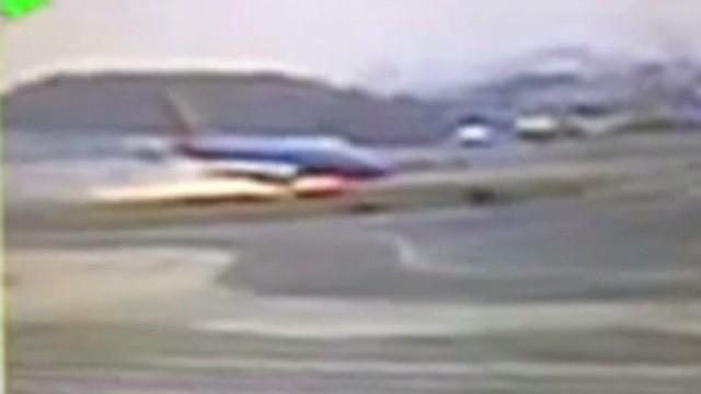 Runway reopens after hard landing