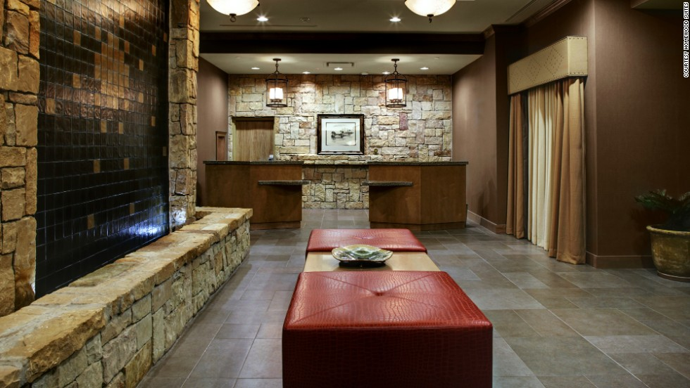 "Hilton's Homewood Suites came in first place in the ""upper extended stay"" category. This is the lobby of the Austin/Round Rock, Texas location."