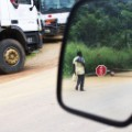 invisible borders Stop Sign, Mimkok, Cameroun