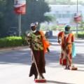 invisible bordes Street Cleaners, N'Djamena, Chad