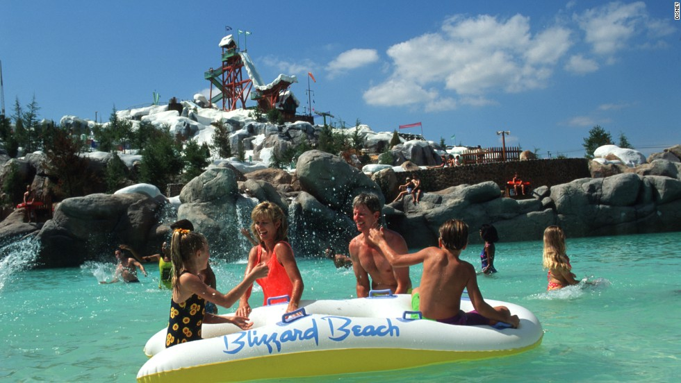 "Disney World's Blizzard Beach offers a ski resort theme in the middle of sunny Florida. ""A lot of American water parks are centered around a theme,"" Palicki said, ""particularly the Disney parks."" The trend now ""is different types of slide experiences and less on making them themed,"" he says. Blizzard Beach, which drew 1.9 million visitors in 2012, offers a thrilling waterslide, raft rides, a wave pool and a play area for small children."