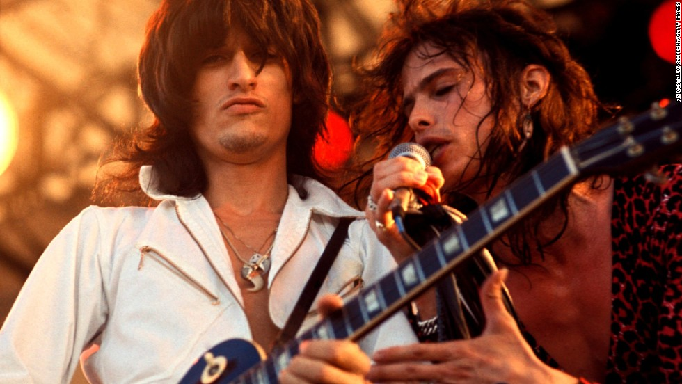 "Led by Steven Tyler and guitarist Joe Perry, Aerosmith has been referred to as ""The Bad Boys from Boston."" When they got their start in the early 1970s, all five members shared a small apartment in the city.  They went on to become one of the best-selling American rock bands, and in 2001 they were inducted into the Rock and Roll Hall of Fame."