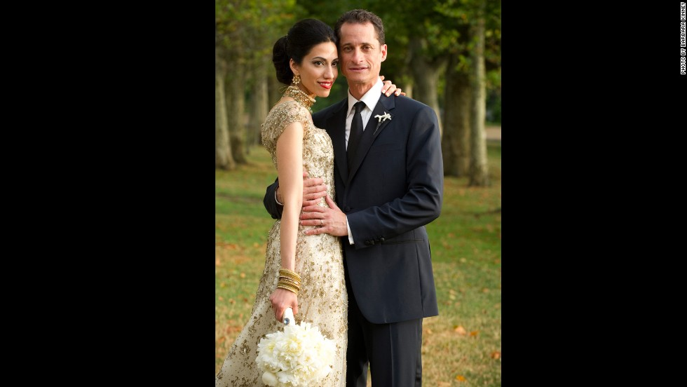 Abedin and Weiner were married in a ceremony officiated by former President Bill Clinton in July 2010 after being introduced during the 2008 presidential campaign.  Their marriage drew extra attention because Abedin is Muslim and Weiner is Jewish.