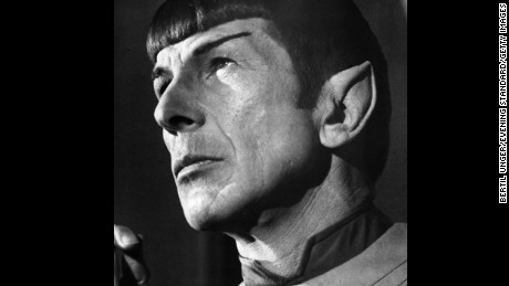 US actor Leonard Nimoy as Mr Spock from the film 'Star Trek - The Motion Picture', 1979.  (Photo by Bertil Unger/Evening Standard/Getty Images)