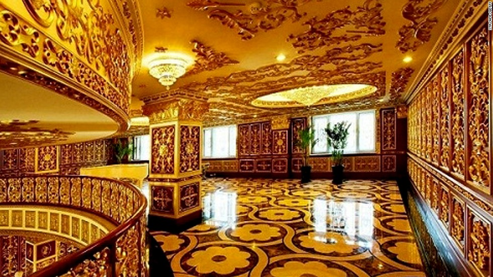 The building has fixtures and fittings worthy of a royal palace.