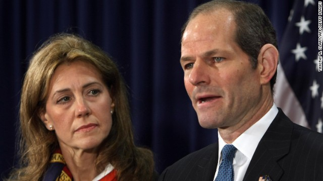 Silda Wall Spitzer was at her husband's side when New York Gov. Eliot Spitzer announced his resignation on March 12, 2008.