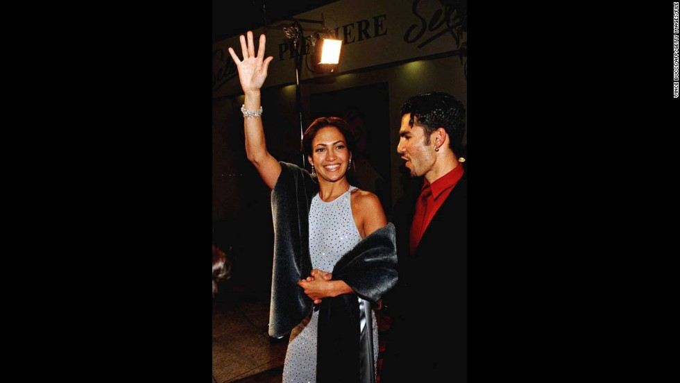 "Lopez's big break came in the title role of the biopic ""Selena,"" which catapulted her into the limelight. She brought then-husband Ojani Noa to the Hollywood film premiere in 1995."