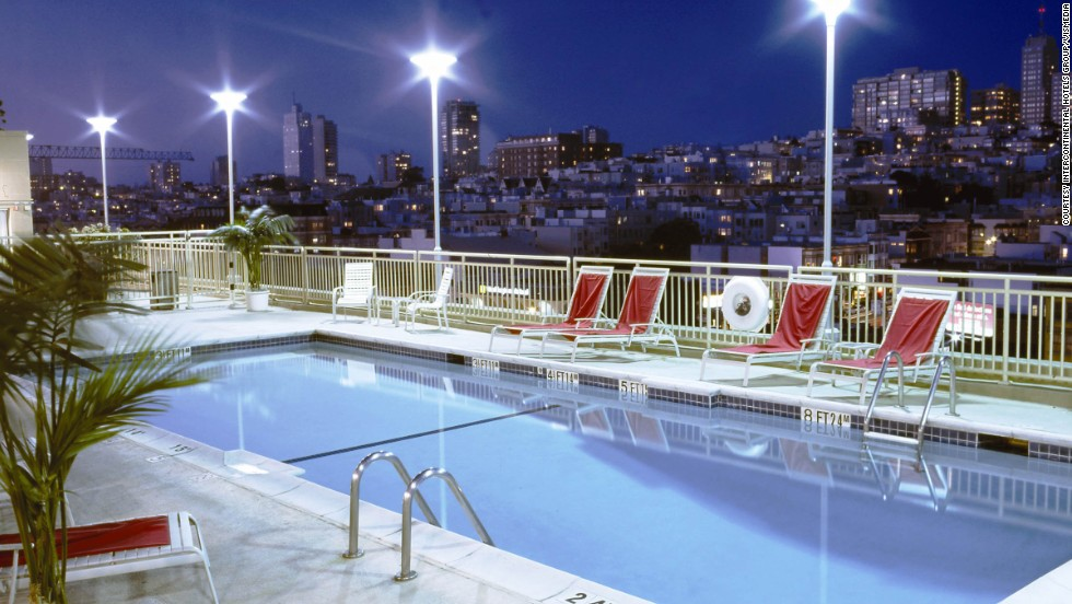 "Holiday Inn won top honors in the ""midscale full service"" category for the third year in a row. Shown here is the swimming pool at the Holiday Inn San Francisco Golden Gateway."