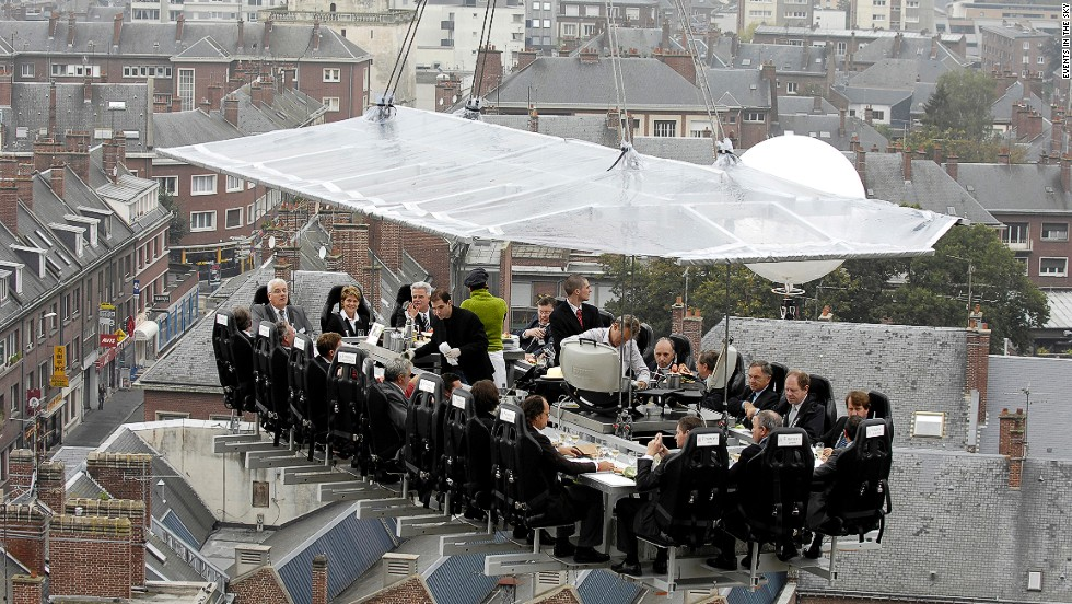 For a real gravity-defying haute dining experience, you have to lose the walls, the floor and the windows and do Dinner in the Sky (prices vary). Pass the salt -- carefully.