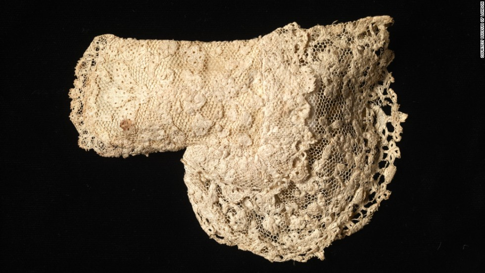 King George III, who reigned from 1760 to 1820, wore this lace mitten when he was only a little prince.