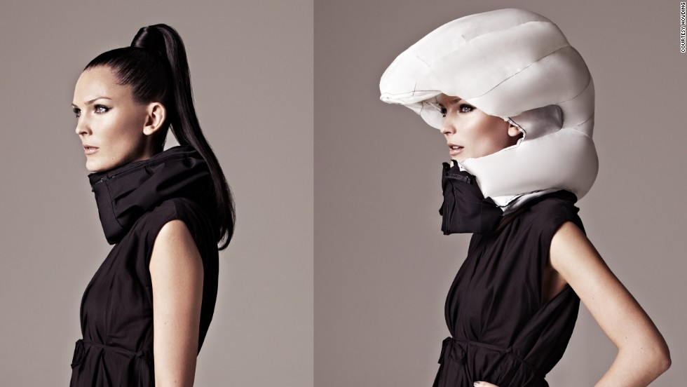 """It's a love/hate thing. The cycling helmet can save your life, but it doesn't look good and tends to ruin your hair. Thankfully the future offers a solution -- the <a href=""""http://www.hovding.com/en/"""" target=""""_blank"""">Hövding</a>. A Swedish creation, the Hövding is an """"airbag for cyclists"""". It's worn as a collar and only expands into a full helmet if you have an accident."""