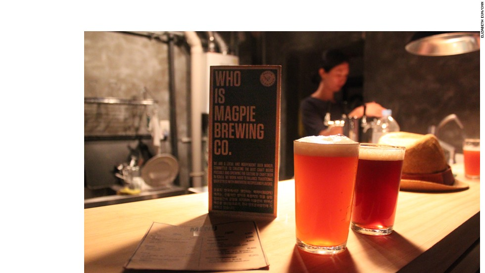 The brewshop serves just two beers, both home-brewed.