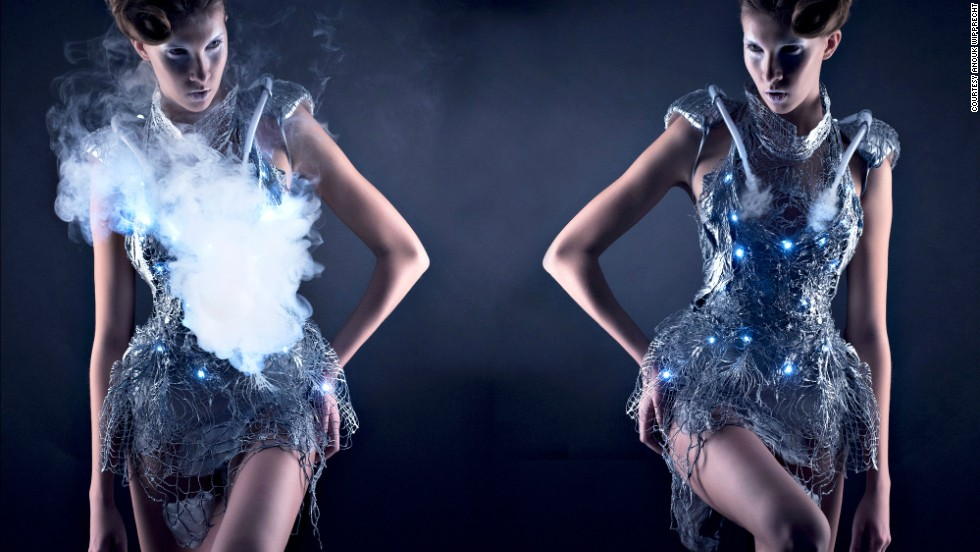 "Don't like strangers approaching you? Then the Smoke Dress is a must-have. Designed by <a href=""http://www.anoukwipprecht.nl/"" target=""_blank"">Anouk Wipprecht</a>, the dress can suddenly visually obliterate itself through the emission of a cloud of smoke. Ambient clouds of smoke are created when the dress detects a visitor approaching, thus camouflaging itself within it's own materiality. Perfect if you are a fashionable socialite AND a misanthrope."