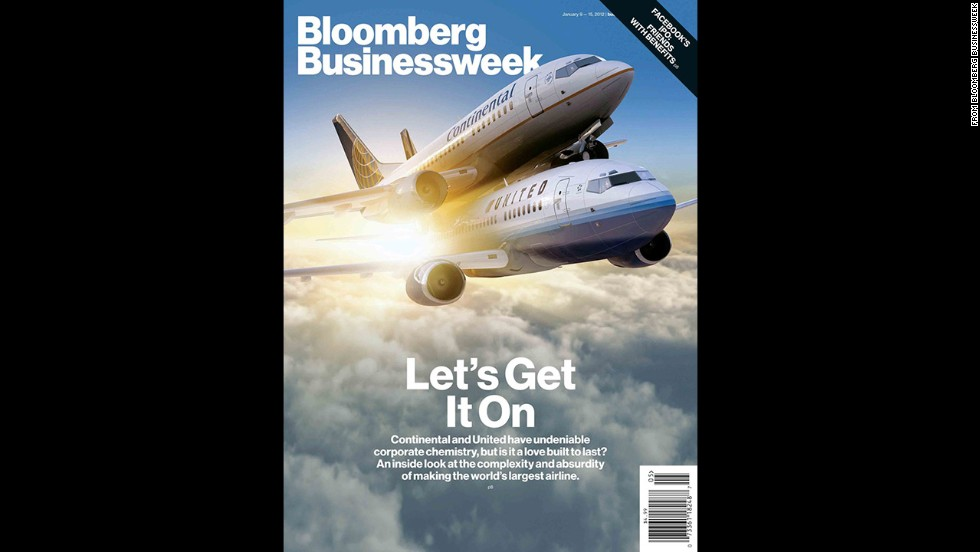 "A Bloomberg Businessweek cover in <a href=""http://www.businessweek.com/magazine/united-continental-making-the-worlds-largest-airline-fly-02022012.html"" target=""_blank"">February 2012</a> addressed the merger between United and Continental airlines with one plane on top of the other and the headline ""Let's Get It On."" <a href=""http://www.magazine.org/about-asme/pressroom/asme-press-releases/asme/new-york-magazine%E2%80%99s-hurricane-sandy-cover-asme%E2%80%99s-cover"" target=""_blank"">It was recognized</a> by the American Society of Magazine Editors as the year's best cover among business and technology magazines."