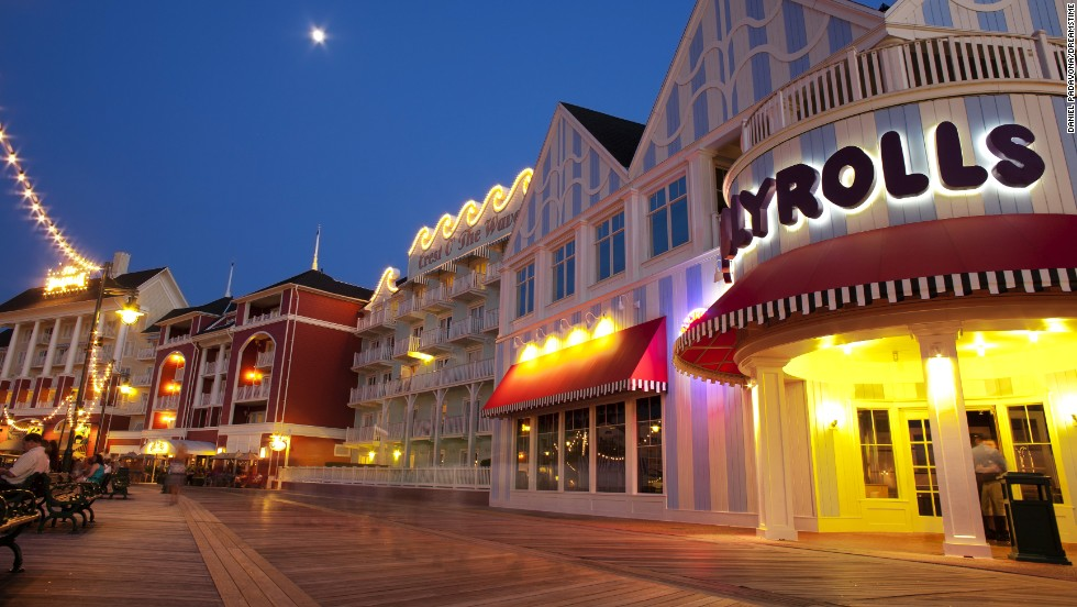 Nobody welcomes guests like Disney. Resort guests can enjoy a classic boardwalk even though there's no ocean in sight.