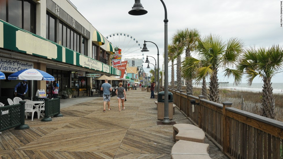 Myrtle Beach's Oceanfront Boardwalk and Promenade is a relative newcomer but draws many happy guests each summer.