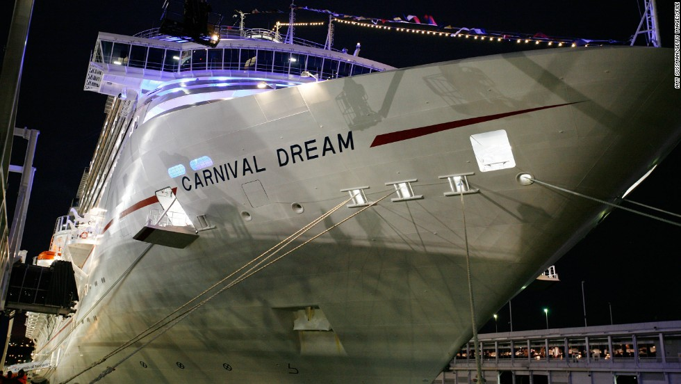 "<a href=""http://www.cnn.com/2013/03/14/world/americas/cruise-ship-trouble/index.html"">The Carnival Dream</a>, shown here at its North American debut in November 2009, lost power in March 2013, and some of its toilets stopped working temporarily. For a time, no one was allowed to get off the vessel, docked at Philipsburg, St. Maarten, in the eastern Caribbean."