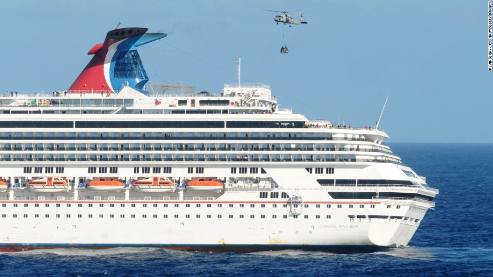 "A fire in the <a href=""http://www.cnn.com/2010/TRAVEL/12/15/carnival.splendor.cancellations/index.html?iref=allsearch"">Carnival Splendor </a>engine room in November 2010 crippled the cruise ship, stranding passengers off the coast of Mexico for several days without air conditioning or hot showers."