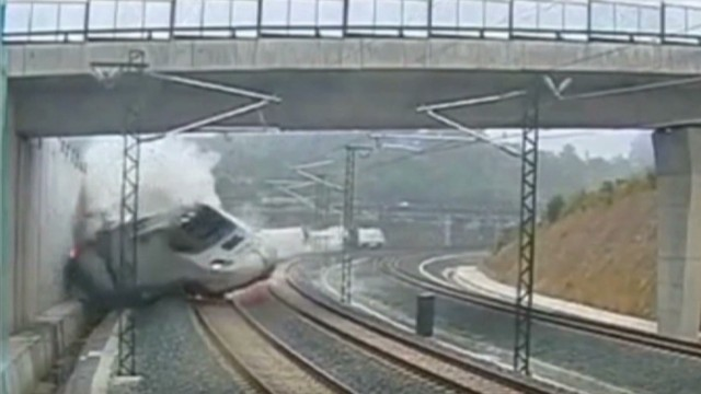 Video captures moment of train's impact